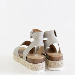 Soda Shoes - Restocked🔥 Open Toe Ankle Strap Espadrille Sandal